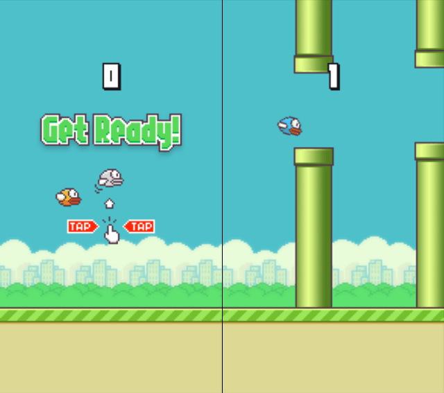 Flappy Bird for iOS Gameplay Screens