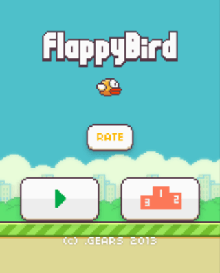 Flappy Bird for iOS Title Screen
