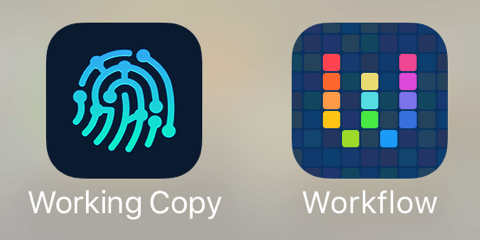 App Icons for `Working Copy.app` and `Workflow.app`